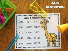 Conversations in Literacy: And Now I Know My ABCs! Freebie too!