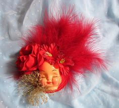 Dollface Fascinator Hat  Feather by rascalkosher on Etsy, $65.00