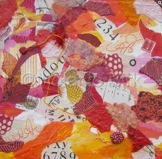 "Mixed Media Artists International: Mixed Media Collage Art Painting ""Terra Cotta Collage"" by Santa Fe Contemporary Artist Melanie Birk"