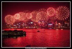 National Day Fireworks over Victoria Harbour