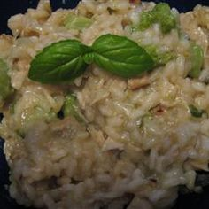 Broccoli Risotto with Cream and Lemon Allrecipes.com