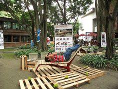 Sistema Arbóreo - Tumbona OMBÚ. Mobiliario Urbano para Parques by Escala Urbana Arquitectura, via Flickr