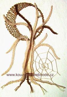 PALIČKOVÁNÍ :: Kouzlo nití Lace Heart, Lace Jewelry, Lace Making, Bobbin Lace, Lace Flowers, Lace Detail, Butterfly, Pattern, How To Make