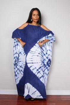 Dye Maxi vestido de lazo / Shibori verano vestido vestido de
