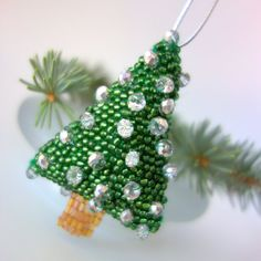 Christmas Tree  Tree Bauble  Silver Gold  New by DewCatDesigns
