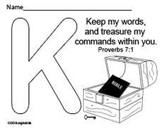 K-Keep my words Bible Lessons For Kids, Bible For Kids, Proverbs, Ps, Preschool, Study, Names, Words, Studio