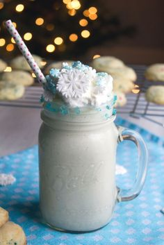 This sugar cookie milkshake is perfect for enjoying on a cold, snowy day. Turn up the heat and get cozy while you sip on this sweet milkshake.