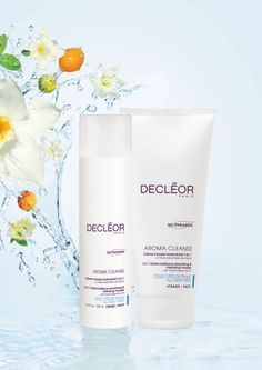 All skin types: Hydra-Radiance Smoothing and Cleansing Mousse DECLÉOR's 3-in-1 foaming cleanser is quick and easy at cleansing and toning, the perfect cleanser for time poor lifestyles. Skin texture is left refined and more luminous thanks to its powerful blend of ingredients and Essential Oils.