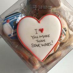 Star Wars Heart Cookie