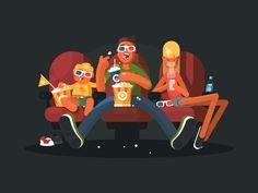 Family in cinema by Anton Fritsler (kit8)