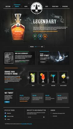 Unique Web Design, It's Drink Time via @benjiridesagain #Web #Design