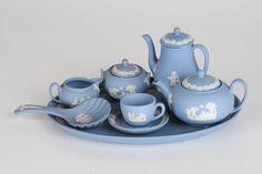 Miniature tea set Wedgwood Blue Jasper