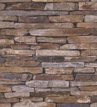 Papel Pintado Imitacion Piedra Urbana Marron Teja   40435