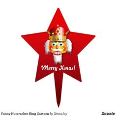Funny Nutcracker King Cartoon Cake Topper
