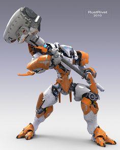 Demolition frame con... Character Concept, Character Art, Character Design, Mode Cyberpunk, 3d Modelle, Cool Robots, Sci Fi Armor, Robot Concept Art, Ex Machina