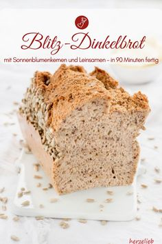 Brot Rezepte, Dinkel Rezepte: Dinkelbrot Rezept, dass in 90 Minuten fertig ist. … Bread Recipes, Spelled Recipes: Spelled Bread Recipe that's ready in 90 minutes. Simple, light and fast with yeast and without sourdough bake # körrner Spelt Recipes, Banana Bread Recipes, Raw Food Recipes, Cake Recipes, Cooking Recipes, Spelt Bread, World Recipes, How To Make Bread, Air Fryer Recipes