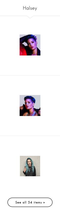 """""""Halsey"""" by imawkwardhey ❤ liked on Polyvore featuring halsey, photos-purple, pictures, people, photo, ashley, photos, 5sos, pics and home"""