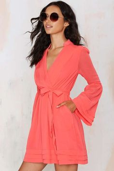 Baby Love Chiffon Dress - Coral