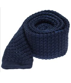 Textured Solid Knit Ties - Navy | Ties, Bow Ties, and Pocket Squares | The Tie Bar