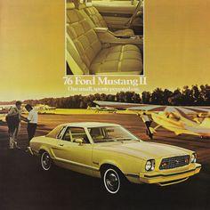 1976 Ford Mustang II sales literature. #mustangvintagecars