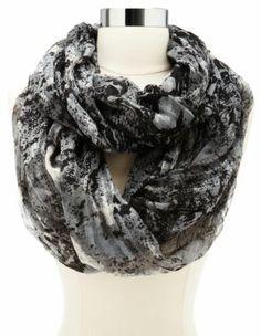 snakeskin print infinity scarf
