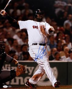 David Ortiz Signed 16x20 Photo - JSA #SportsMemorabilia #BostonRedSox