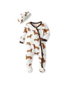 Cute little doxies all over this onesie from Mad Boy on My Habit