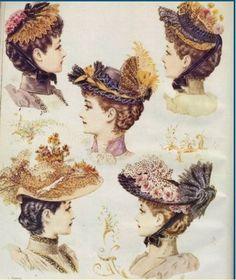 1880 - modèles de chapeaux