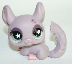 Littlest Pet Shop #360 CHINCHILLA HASBRO LPS Purple Flower #Hasbro