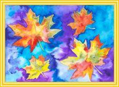 Listy s vodovými barvami