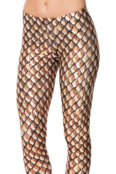 Dragon Scales Gold Leggings (WW ONLY $75AUD) by Black Milk Clothing
