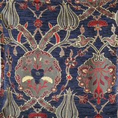SALE!!!by the Meter,Yard,Tulips,Chenille,Jacquard, Ethnic,Tribal,Turkish,Ottoman Chenille Upholstery Fabric, Velvet Fabric, Fabric,Black