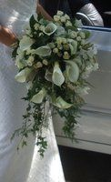 Wedding, Flowers, Reception, White, Green, Bouquet, Ceremony, Brown, Bridesmaids, Black, Inspiration, Gold, Board, Silver, Lily, Posy, Arum, Romantica floral design, Trailing