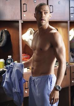 Jesse Williams - Grey's anatomy... I don't care who you are, this man... this man is a work of art.