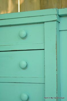 Tiffany Blue, Annie Sloan Chalk Paint from Paint in my hair: Color Recipes