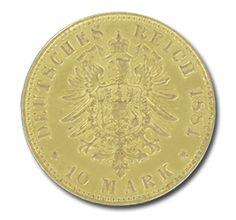 Freie Hansestadt Hamburg, 10 Mark, 3.58g Gold, 1873-1913