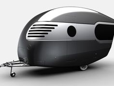 This is something the Jetsons would camp in. travel-trailer