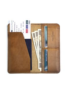 Leather Travel Wallet / Leather Passport Wallet - The Kindergarten Co. TKC. $80.00, via Etsy.