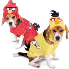 First get angry, then get even. Even old dogs can learn new tricks if you give them wings! This puppy couples costume includes matched red and yellow official Angry Birds looks, both with hoods and comfy character shirts. Don't forget to check out the matching accessories below!