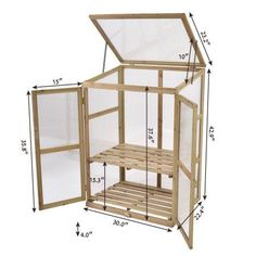 Costway Garden Portable Wooden GreenHouse Cold Frame Raised Plants Shelves Protection - All About Diy Greenhouse Plans, Portable Greenhouse, Backyard Greenhouse, Greenhouse Wedding, Diy Mini Greenhouse, Cheap Greenhouse, Pallet Greenhouse, Homemade Greenhouse, Greenhouse Plants
