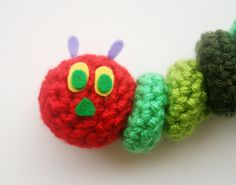 WIWT & Free Crochet Pattern: The Very Hungry Caterpillar(use velcro and make baby puzzle?)