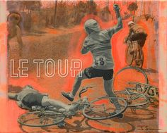 LE TOUR - from maillot jaune to lanterne rouge    LE TOUR represents the very essence of my work - an apotheosis - a sporting event, and its players, repositioned as a gallery of devotional imagery.