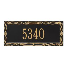 Personalized Sailor's Knot Nautical Address Plaque - One Line Available now at the best price only at www.everythingnautical.com  #Nautical #Home #Decor #Gifts
