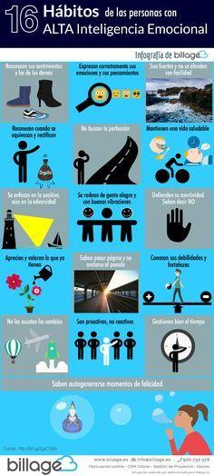 16 hábitos de las personas con alta Inteligencia Emocional #infografia