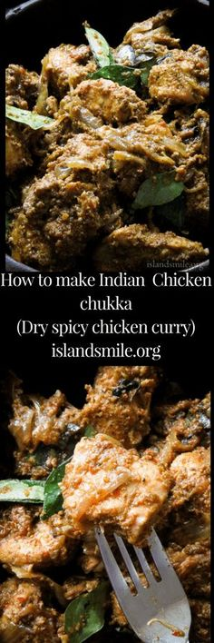 How to make a chicken chukka curry, a dry, spicy indian curry. #recipe #cooking #chicken #indian #gluten-free #low-carb #meals #curry