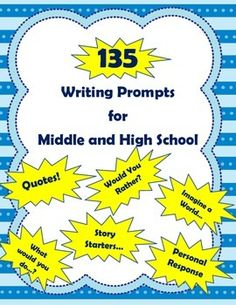 junior high writing prompts Download this page of writing prompts — free the doc version is formatted and ready to use with microsoft word, google docs, or any other word processor that can open the doc file format.