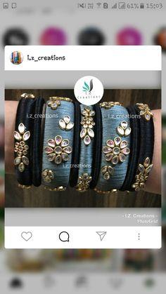 Silk Thread Bangles Design, Silk Bangles, Silk Thread Earrings, Gold Bangles Design, Bridal Bangles, Thread Jewellery, Handmade Rakhi, Bangles Making, Jewelry Patterns