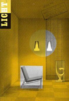 Licht - 1961/1962  (N.N.) - Licht - Philips Nederland N.V. - 1961 / 1962 - Nummers 60 t/m 69 totaal 350 pp. met deels uitvouwbare afbeeldingen - gebonden in priveband (hardcover) met linnen rug - ca. 285 x 20 cmIn goede staat. Her en der naam- en datumstempeltje. Bladzijden gecoupeerd.In deze tijdschriftenreeks worden diverse voorbeelden getoond van de toepassing van kunstlicht: Stand Koninklijke Glasfabriek (Gispen) op de Voorjaarsbeurs V. & D. Amsterdam en Amersfoort Stadion Galgewaard…