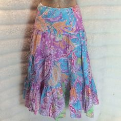 . RALPH LAUREN linen!! Fresh and fun! perfect for summer. Lightweight Linen with cotton lining. Bundle and save $$ Ralph Lauren Skirts Midi