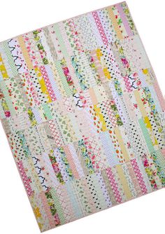 A Low Volume Scrappy Strip Quilt